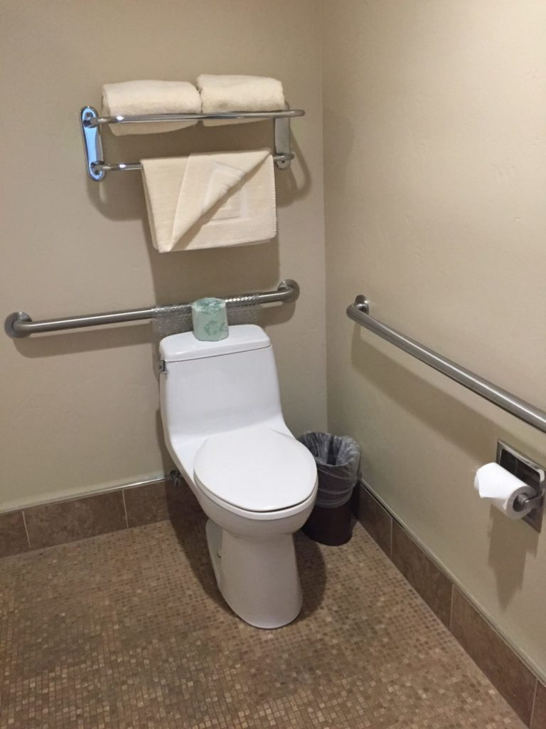 To show the accessible bathroom in the ADA King Room